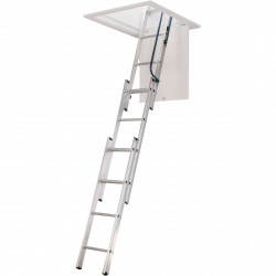Werner AA1510 Compact Telescoping Attic Ladder 7' to 9'10""