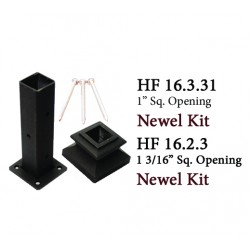House of Forgings Cast Iron Newel Kits for Square Ended Newels