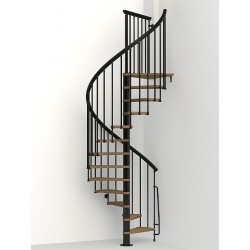 "Arke Nice1 51"" Dia. Wood Tread Spiral Staircase Kits"