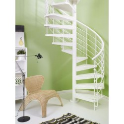 "Fontanot Arke Magia 50.Xtra Indoor 59-1/16"" Diameter Italian Spiral Staircases"