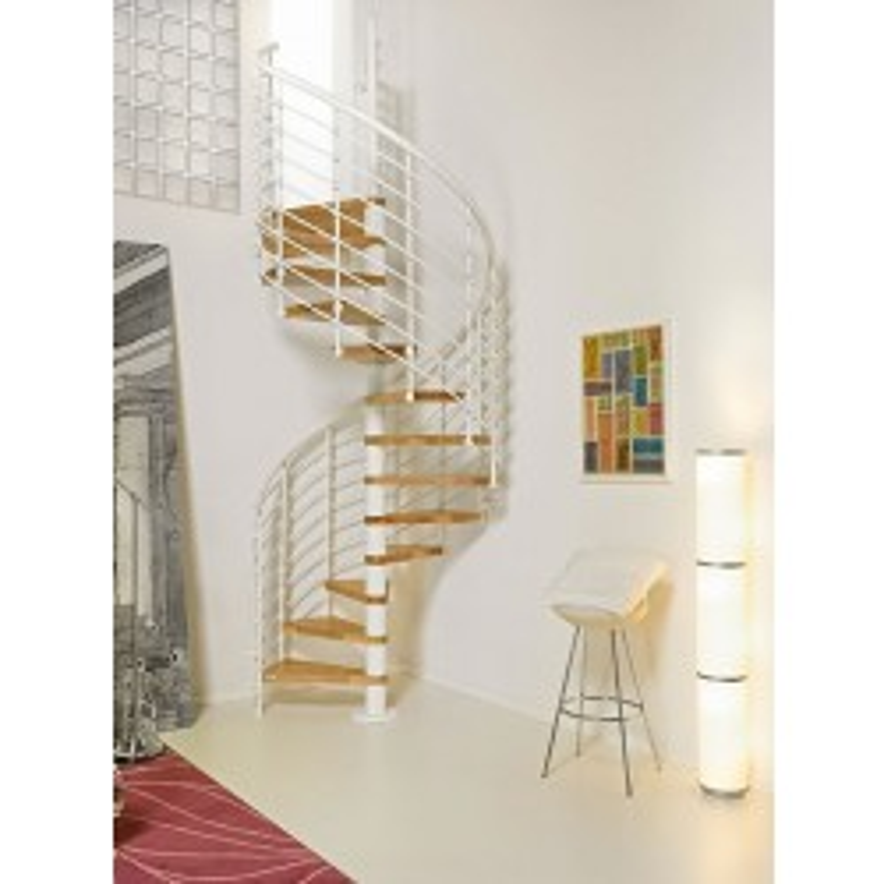 "Arke Oak.70 Xtra 51"" Dia. Wood Tread Spiral Staircase Kits"