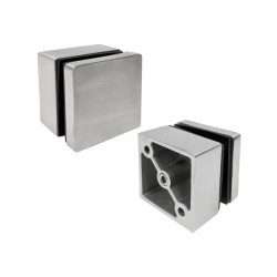 House of Forgings Axia Square Glass Standoff Glass Mounts