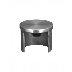 House of Forgings AX00.030.120.A.SP Axia Flat End Cap for Round Glass Cap Rails