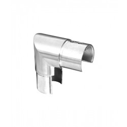 House of Forgings AX00.032.171.A.SP Axia Vertical 90 Degree Fitting Round Glass Cap Rails