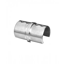 House of Forgings AX00.032.174.A.SP Axia Inline Splice Coupler for Round Glass Cap Rails