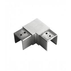 House of Forgings AX00.032.305.A.SP Axia Horizontal 90 Degree Fitting Square Glass Cap Rails