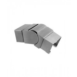 House of Forgings AX00.032.311.A.SP Axia Downward Adjustable Fitting for Square Glass Cap Rails
