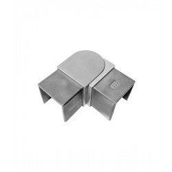 House of Forgings AX00.032.315.A.SP Axia Horizontal Adjustable Fitting Square Glass Cap Rails