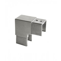 House of Forgings AX00.032.326.A.SP Axia Vertical 90 Degree Fitting Square Glass Cap Rails