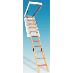 Bessler BE-119 Series One Hour Fire Rated Wood Attic Stairs - 350 lb Capacity