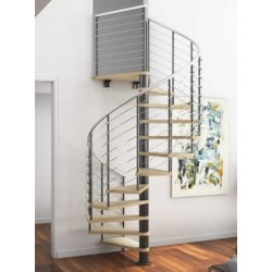 """60""""D Quick Ship Compression Spiral Stair - 85"""" - 152"""""""