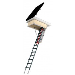 Fakro LML Insulated Steel Attic Ladder and DRL Roof Hatch Combo