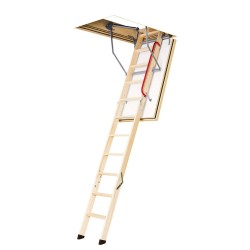 Fakro LWF Series Wooden Attic Ladders - 43 Minute Fire Rated to ASTM 119 (US) Specs - 300 lbs
