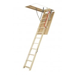 Fakro LWP/LWS-PL Series Insulated Wooden Attic Ladders - 300 lbs