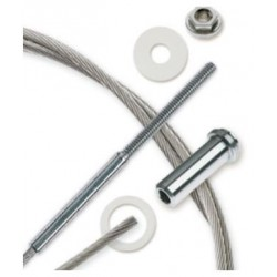 "Feeney CableRail 6900 Series 1/4"" Stainless Steel Cable Assembly for Metal Frames"