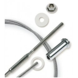 "Feeney CableRail 6700 Series 3/16"" Stainless Steel Cable Assembly for Metal Frames"