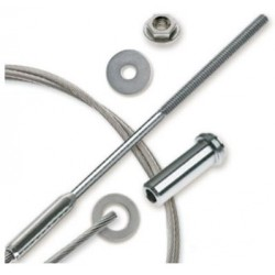"Feeney CableRail 6800 Series 3/16"" Stainless Steel Cable Assembly for Wood Frames"