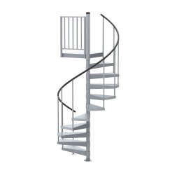 42 Galvanized Steel Non Code Spiral Stair Kit 85