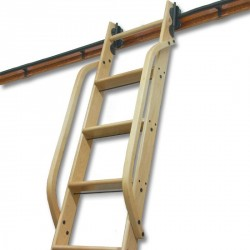 """Wooden Hand Rail, Red Oak, Unfinished 1-1/4"""" square stock Steam-bent and predrilled"""