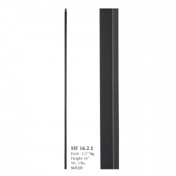 "House of Forgings 16.2.1 - 1/2"" Square Plain Bar Solid Baluster - Satin Black"