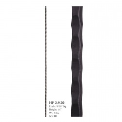 "House of Forgings 9/16"" Plain Hammered Solid Balusters - Orleans Collection"