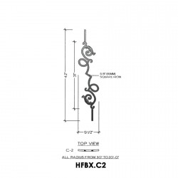 House of Forgings HFBX.C2 Bordeaux Concave Panel for Under 40 Degree Incline Angles
