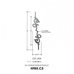 House of Forgings HFBX.C3 Bordeaux Convex Panel for Under 40 Degree Incline Angles