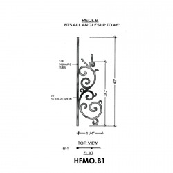 House of Forgings HFMO.B1 Milano Flat Panel for Up to 48 Degree Angles