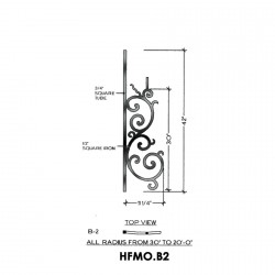House of Forgings HFMO.B2 Milano Concave Panel for Up to 48 Degree Angles