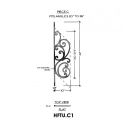 House of Forgings HFTU.C1 Tuscany Flat Panel for 20 - 36 Degree Angles