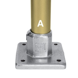 Kee Safety L150-8 Kee Lite Aluminum Heavy Duty 4 Hole Square Flange