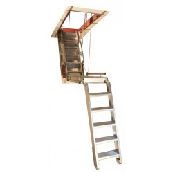 "Precision Super Simplex Attic Stair w/Angle Frame (37""-48""D) for Drop Ceilings 9'10""-12'H"