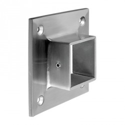 Q-Railing Square Wall Flanges in 316 or 304 Stainless Steel