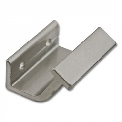 Horizontal Bracket for Rolling Hook Library Ladder Top Guides - Satin Nickel Finish