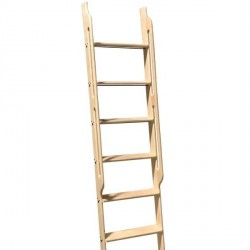Unassembled Library Ladders with Built-In Handle