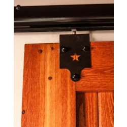 Quiet Glide HPIDHP3000 Heavy Duty Barn Door Star Style Hardware Kit - Black Finish