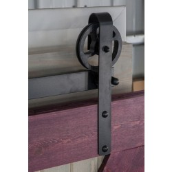 Quiet Glide HPIDHP2000 Heavy Duty Barn Door Strap Style Hardware Kit - Black Finish