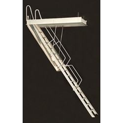 """Rainbow G Series Steel Folding Attic Stairs - 7'4""""H to 10'4""""H"""