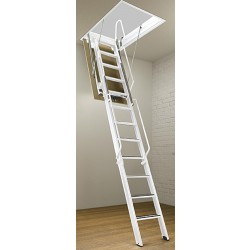 """Rainbow F Series Steel Folding Attic Stairs - 7'4""""H to 15'4""""H"""