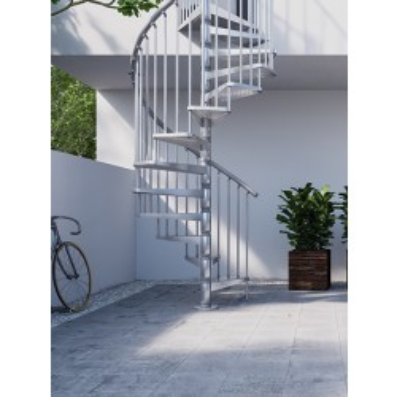 "Rintal Zink 47"" Diameter Outdoor Spiral Stairs"