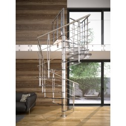 Rintal Tekla Glass Custom Spiral Stairway