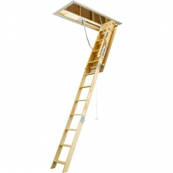 Werner Heavy Duty Wood Attic Ladders